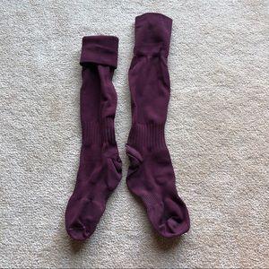 Maroon soccer socks
